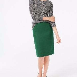 J. Crew Wool Blend Pencil Skirt - Alpine Meadow 2